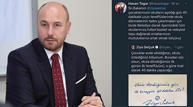 Başkan Togar'dan Milli Eğitim Bakanına destek