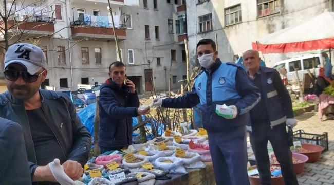 Salıpazarı Belediyesi'nden virüs önlemi