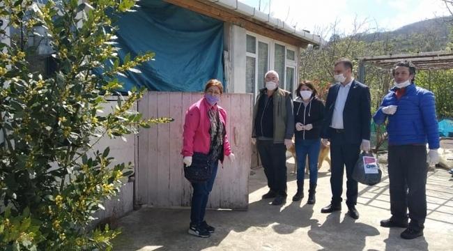 CHP Samsun'dan vatandaşlara yardım kolisi