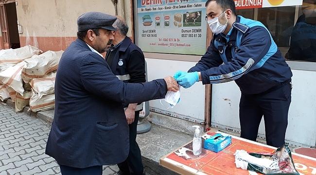 Salıpazarı Belediyesi'nden pazarlarda Korona virüs tedbiri