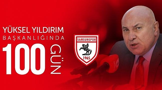 Samsunpor'da 'Yüksel Yıldırım Başkanlığında 100 Gün' yayınladı