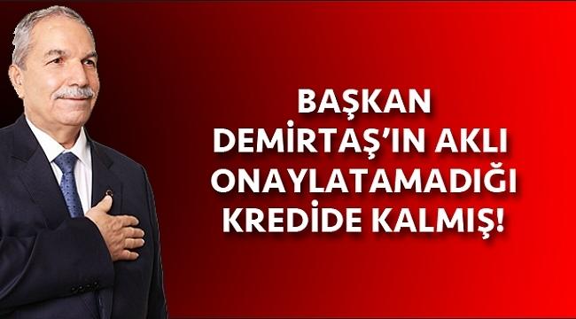 Başkan Demirtaş'ın aklı Meclis'in reddettiği 'kredi'de kalmış