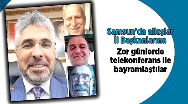 Samsun'da İl başkanları telekonferans ile bayramlaştı