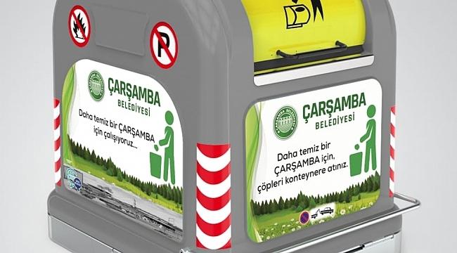 Çarşamba'ya yer altı çöp konteyneri sistemi