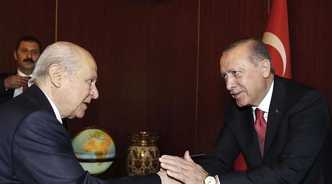 Cumhurbaşkanı Erdoğan'dan MHP Lideri Bahçeli'ye teşekkür