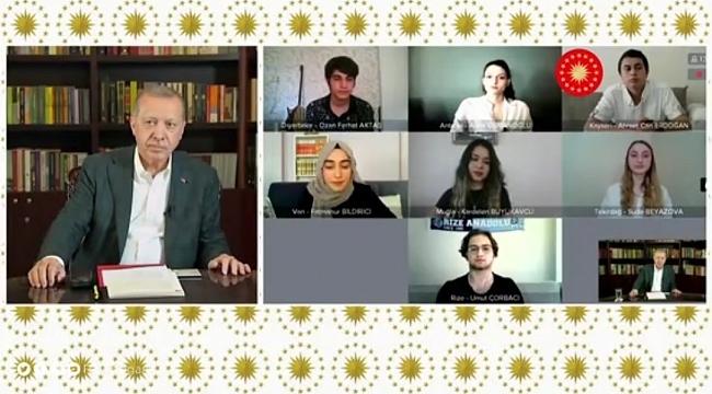 Cumhurbaşkanı Erdoğan YKS öncesi gençlerle buluştu
