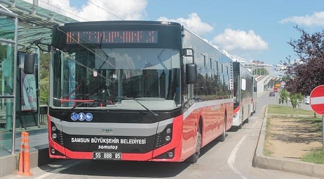 Samsun'da toplu taşıma araçları yüzde 50 zorunluluğu kaldırıldı