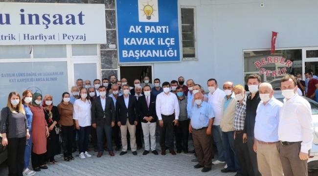 Samsun Haber -  Milletvekili Köktaş'tan Başkan Bakır'a ziyaret