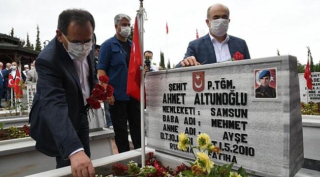 Samsun Haber - Samsun'da şehitlik ziyareti