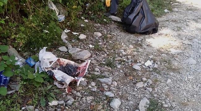 Samsun Haber -  Samsun'un doğa harikası Gölalan Şelalesi'nden 150 kilo çöp çıktı