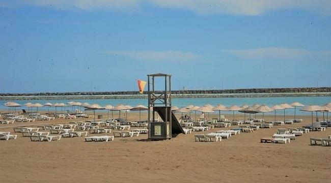 Samsun mavi bayraklı plajlarıyla Türkiye'de 6. Karadeniz'de 1. sırada