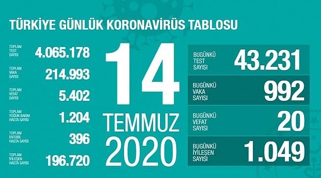 Türkiye'de bir ay sonra vaka sayıları yeniden binin altına düştü