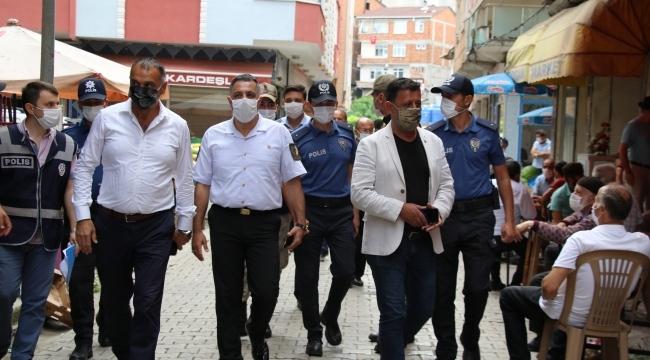 Başkan Akgül'den Korona virüs denetimi
