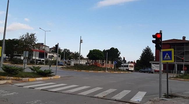 samsun haber - Salıpazarı trafik lambasına kavuştu
