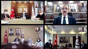 samsun haber - Bakan Koca Samsun Valisi Dağlı ile Korona virüs toplantısı yaptı