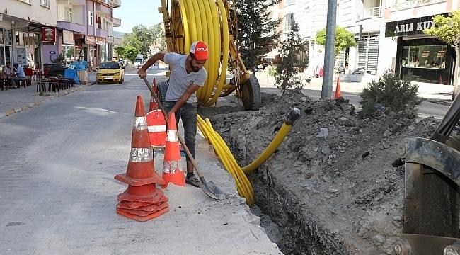 samsun haber Kavak'ta doğal gaz çalışmaları hızlandı