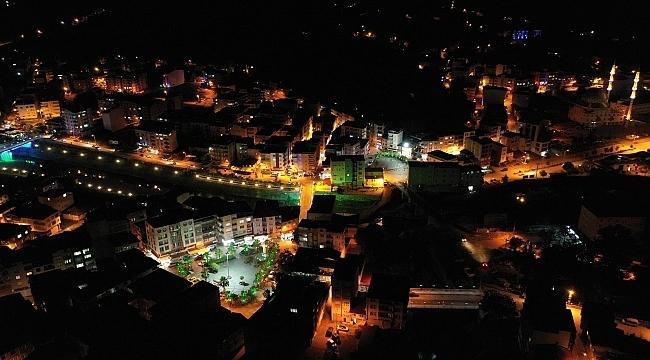 samsun haber - Salıpazarı'nda gece görüntüsü