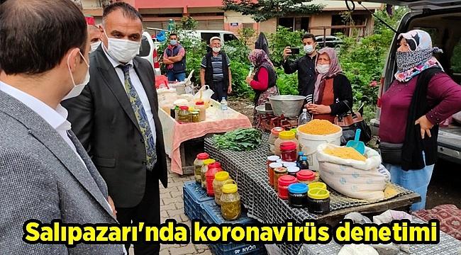 Salıpazarı'nda koronavirüs denetimi