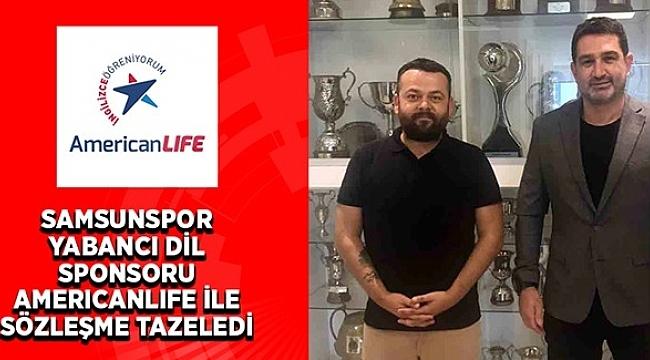 Samsunspor ve AmericanLife anlaşmayı yeniledi