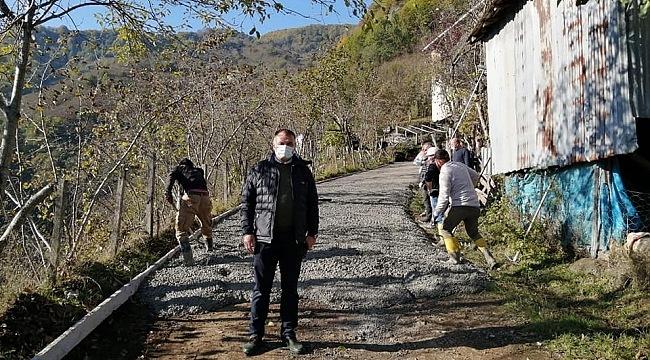 Başkan Akgül: Salıpazarı'nda yol sorunu kalmayacak