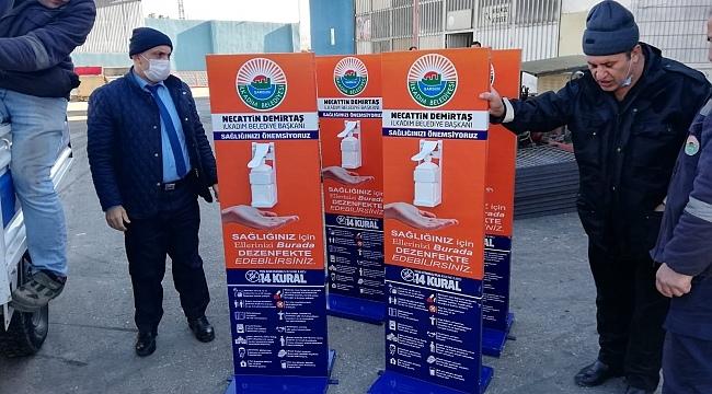 İlkadım Belediyesi'nden dezenfektan desteği