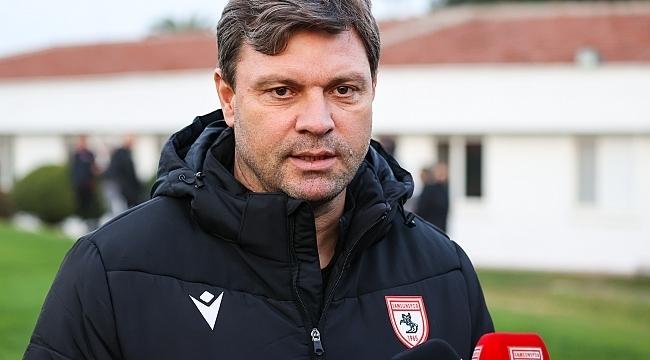 Samsunspor Teknik Direktörü Sağlam'dan önemli açıklamalar