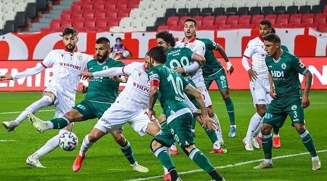 Samsunspor kendi sahasında hüsrana uğradı