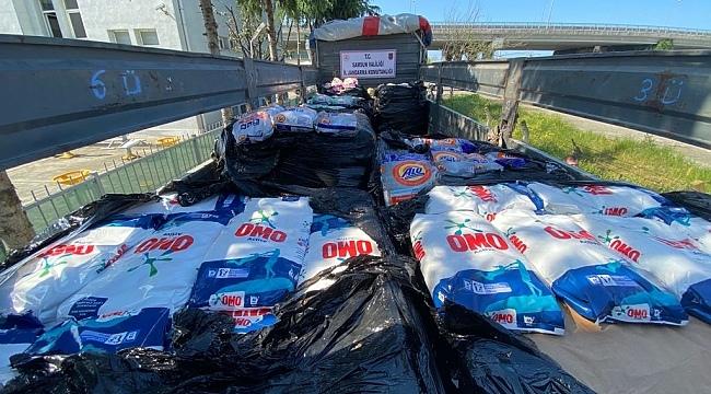 Samsun'da tonlarca sahte temizlik malzemesi ele geçirildi