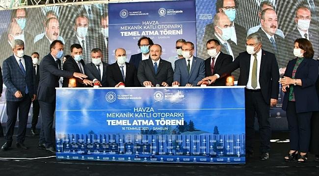 Bakan Varank Havza Mekanik Katlı Otoparkın temelini attı