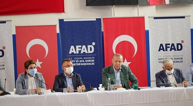 Cumhurbaşkanı Erdoğan, afet bölgesine yapılacak yardımları açıkladı