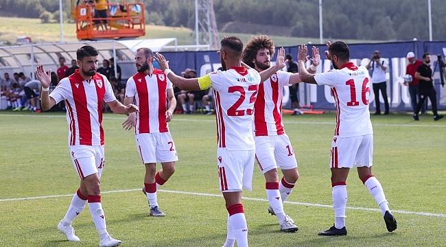 Samsunspor ilk hazırlık maçında güldürdü