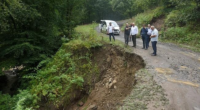 Tekkeköy'de şiddetli yağış heyelan getirdi - samsun haber