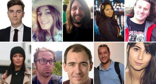 Paris'te Hayatını Kaybedenler 15 Farklı Ülkeden