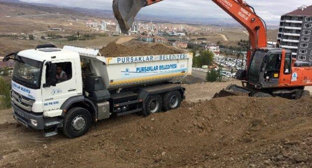 Pursaklar Belediyesi Fen İşleri kış öncesi çalışmalarını hızlandırdı