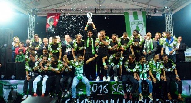 Şampiyon Muğlaspor Kupasına Kavuştu