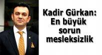 Kadir Gürkan: En büyük sorun mesleksizlik