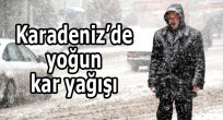 Karadeniz'de 6 ilde kar yağışı bekleniyor